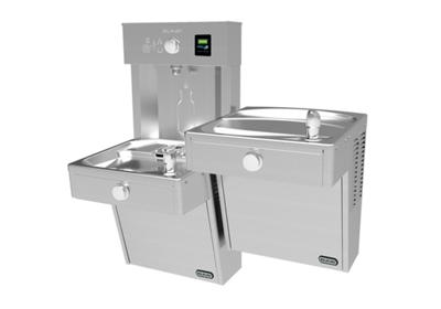 Image for Elkay EZH2O Vandal-Resistant Bottle Filling Station, & Bi-Level Reverse Cooler, Non-Filtered Non-Refrigerated Stainless from ELKAY