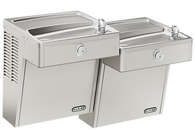 Image for Elkay Cooler Wall Mount Bi-Level ADA Frost Resistant, Vandal-Resistant Non-Filtered 8 GPH Stainless from ELKAY