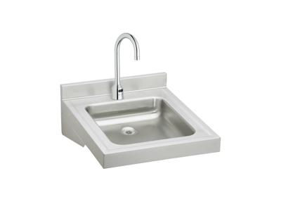 "Image for Elkay Sturdibilt Stainless Steel 19"" x 23"" x 4"", Wall Hung Single Bowl Lavatory Sink Kit from ELKAY"
