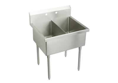 "Image for Elkay Weldbilt Stainless Steel 33"" x 27-1/2"" x 14"" Floor Mount, Double Compartment Scullery Sink from ELKAY"