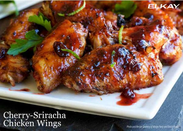 Cherry-Sriracha Chicken Wings