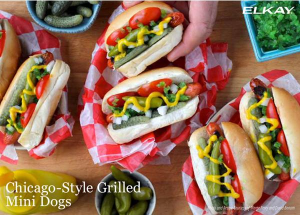 Chicago-Style Grilled Mini Dogs