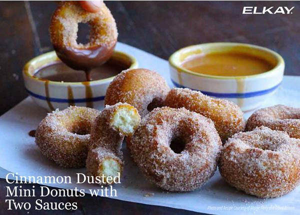 Cinnamon Dusted Mini Donuts