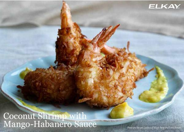 Coconut Shrimp with Mango-Habanero Sauce