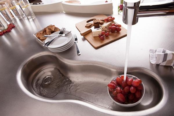 Custom Stainless Steel Seamless River Sink.