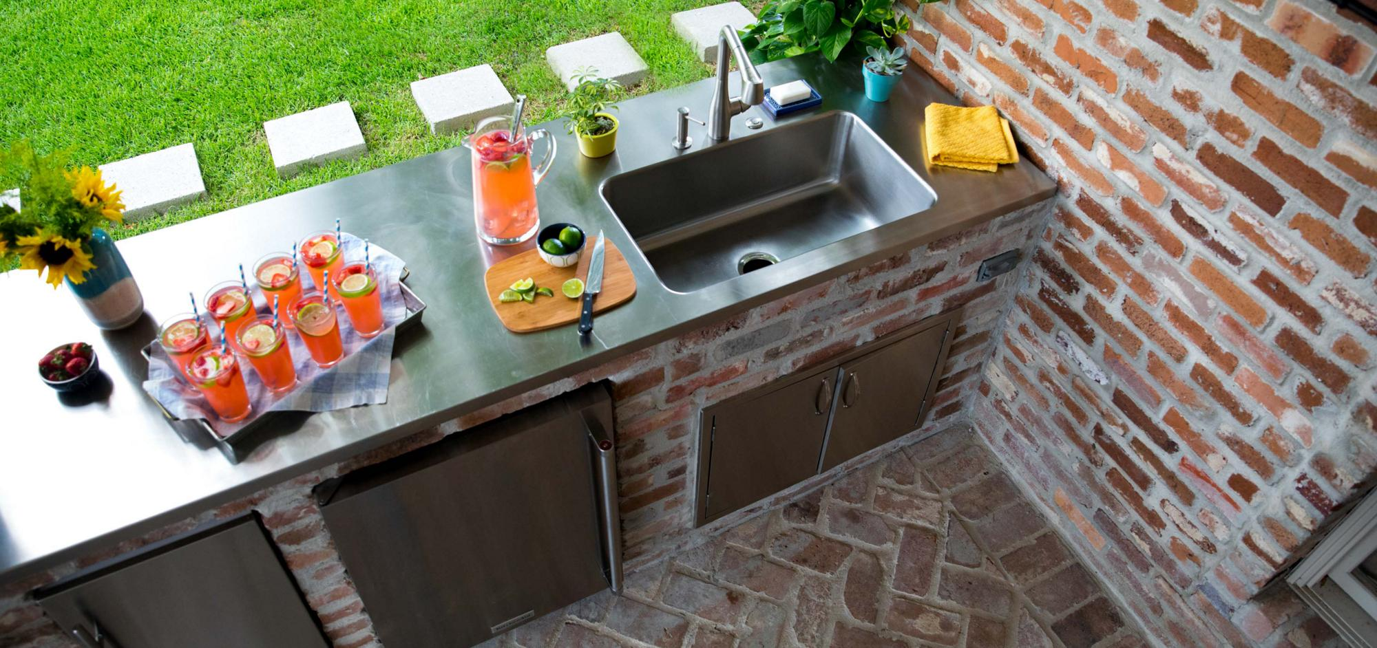 Custom stainless steel kitchen solutions elkay commercial stainless steel seamless sink top workwithnaturefo