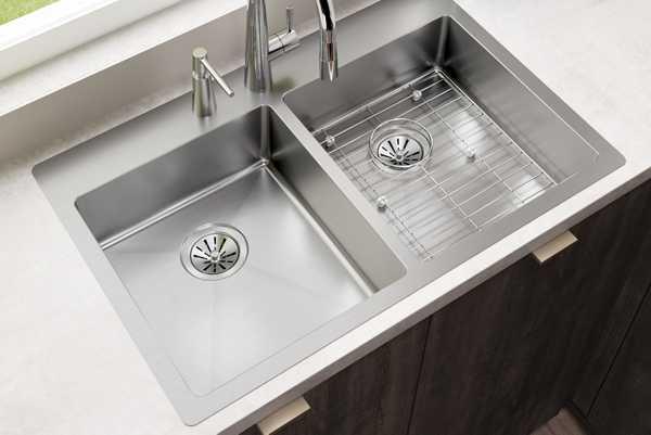 Crosstown Stainless Steel Kitchen Sinks Elkay
