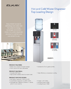 Hot and Cold Water Dispenser Top Loading Design (INTL-4750)