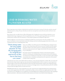 Lead in Drinking Water: Filtration as a Fix