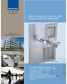 Architectural Fountain with Integrated EZH2O Bottle Filler (F4571)