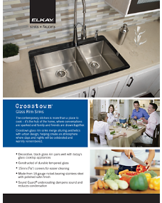 Crosstown Glass Rim Sinks Brochure (F-4590)