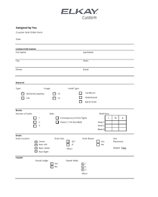 Custom Sink Order Form (F-4747)