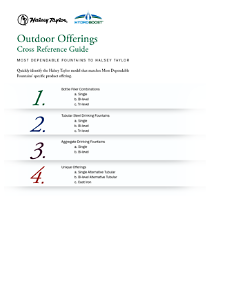Outdoor Offerings Ref. Halsey Taylor to Most Dependable Fountains