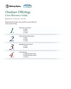 Outdoor Offerings Ref. Halesy Taylor to Murdock