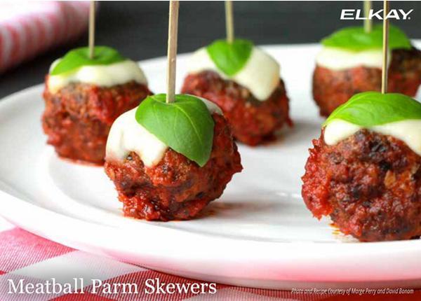 Meatball Parm Skewers