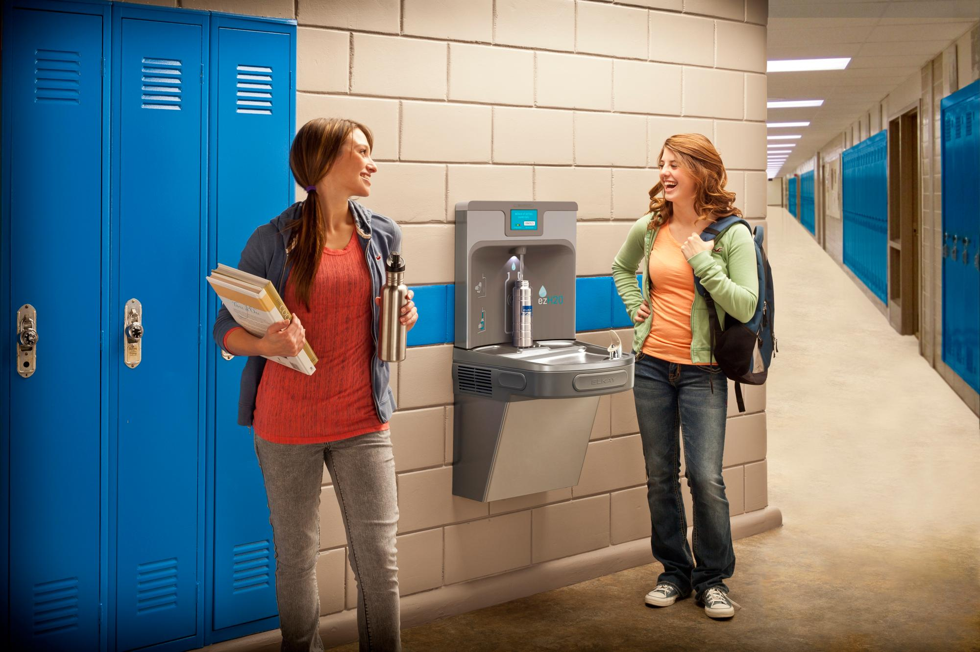 Water fountains schools - Elkay Ezh2o Offers Cleaner Healthier Water