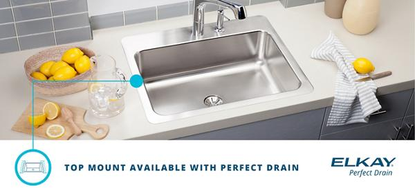 Elkay® Has Perfected The Sink By Eliminating The Gap Around The Drain For A  Cleaner Sink And A Stylish, Modern Look. No Gap Means No Grime, Because  Food Has ...