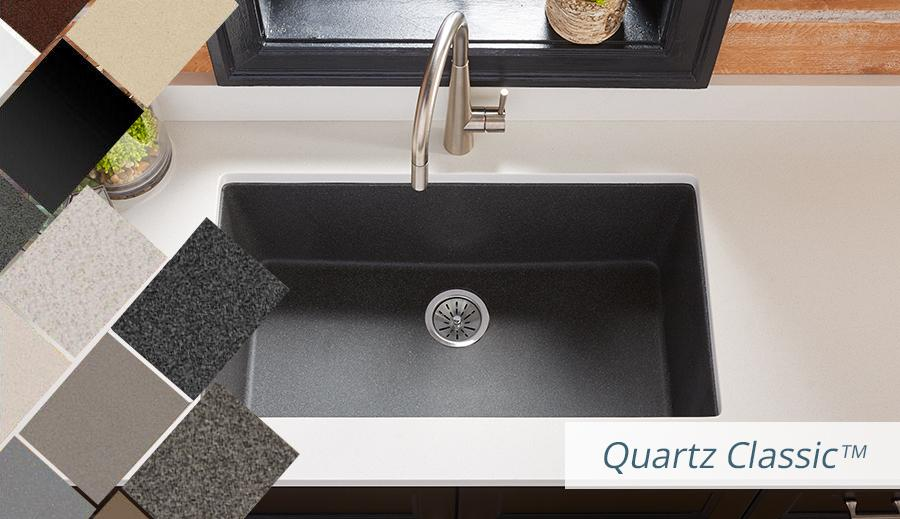 Elkay Quartz Kitchen Sinks Bold Granite Colors Sleek