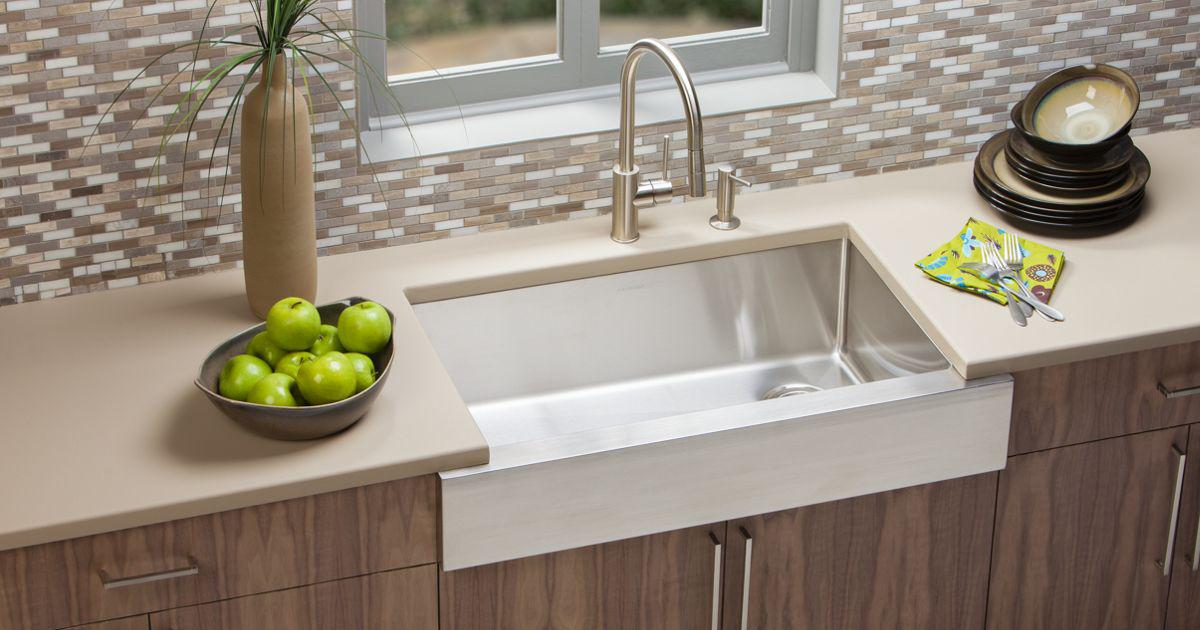 elkay stainless steel kitchen sinks faucets cabinets bottle fillers drinking fountains - Kitchen Sinks Installation