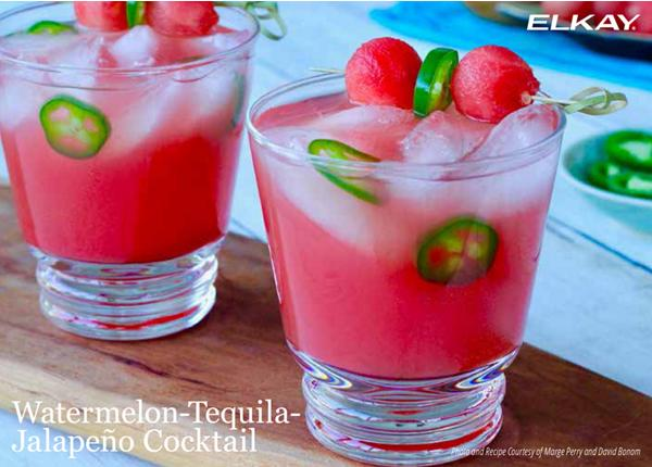 Watermelon Tequila Jalapeno Cocktail