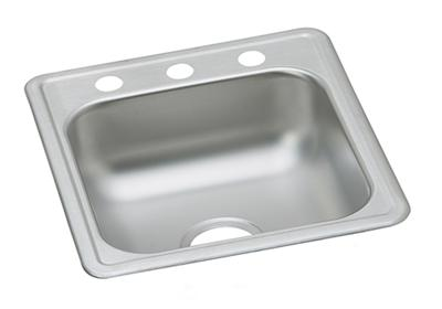 "Image for Dayton Stainless Steel 17"" x 19"" x 6-1/8"", Single Bowl Drop-in Bar Sink from ELKAY"