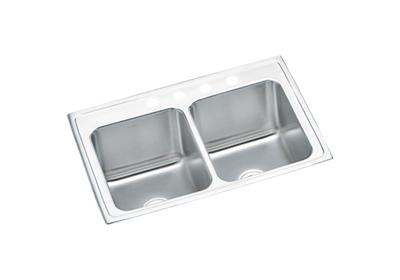"Image for Elkay Lustertone Classic Stainless Steel 33"" x 22"" x 10-1/8"", Equal Double Bowl Drop-in Sink from ELKAY"