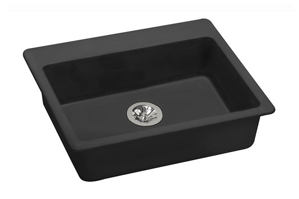 "Elkay Quartz Classic 25"" x 22"" x 5-1/2"", Top Mount ADA Sink with Perfect Drain"