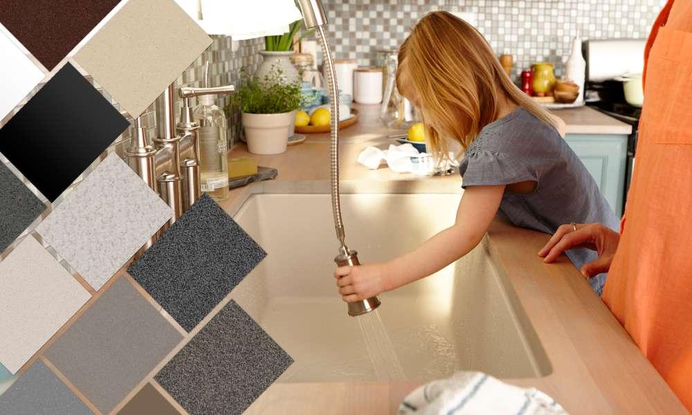Elkay Quartz Kitchen Sinks Bold Granite Colors Sleek