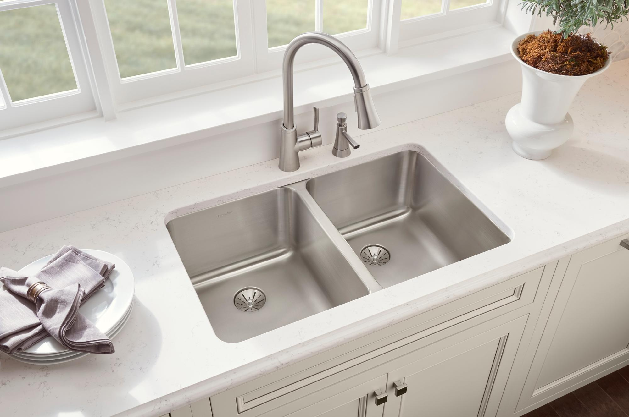undermount sinks kitchen lustertone sink collection elkay 3031