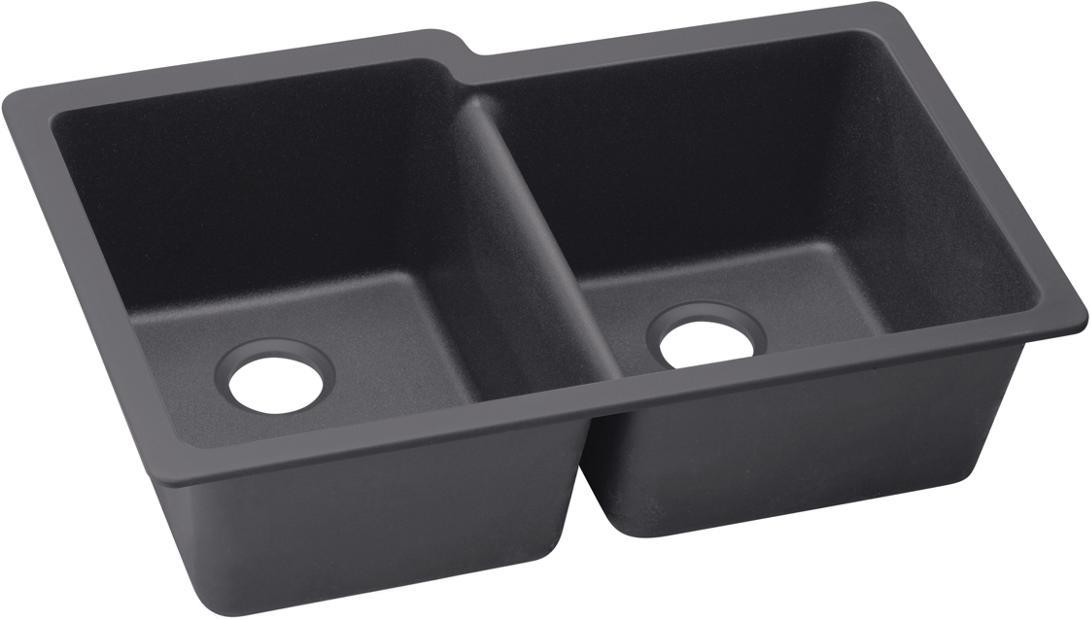 Elkay Quartz Luxe 33 X 20 1 2 9 Offset Double Bowl Undermount Sink Elxu250r