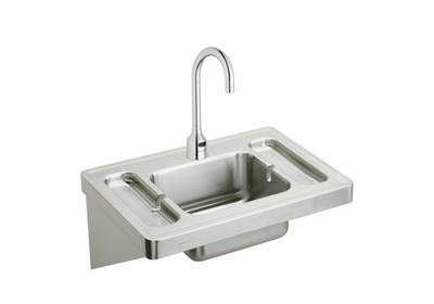 "Image for Elkay Stainless Steel 28"" x 20"" x 7-1/2"", Wall Hung Lavatory Sink Kit from ELKAY"