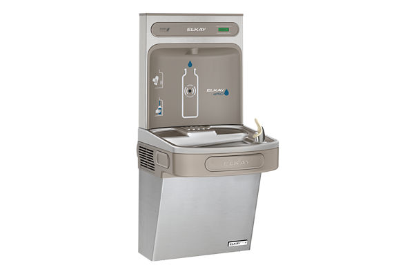 Elkay EZH2O Bottle Filling Station & Single ADA Cooler, High Efficiency Non-Filtered 8 GPH Stainless