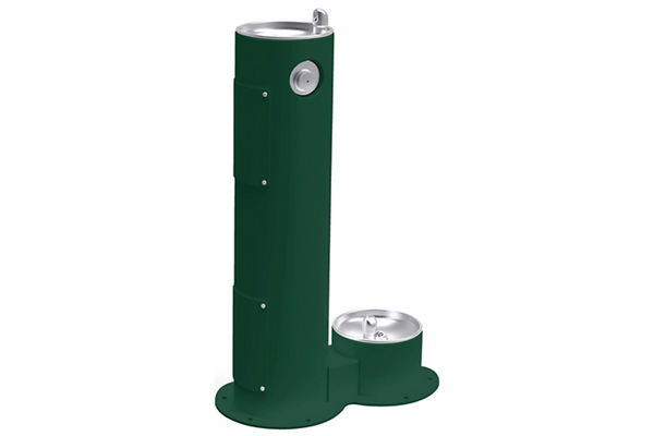 Elkay Outdoor Fountain Pedestal with Pet Station Non-Filtered, Non-Refrigerated