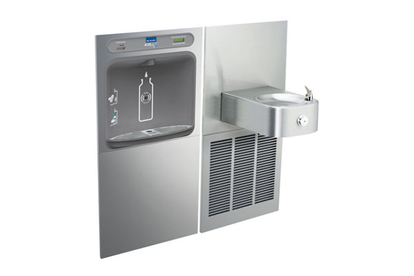 Elkay EZH2O Bottle Filling Station & Soft Sides Single Fountain, Filtered 8 GPH Stainless