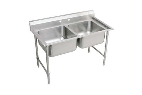 "Elkay Rigidbilt Stainless Steel 47-1/4"" x 29-3/4"" x 12-3/4"", Floor Mount, Double Compartment Scullery Sink"
