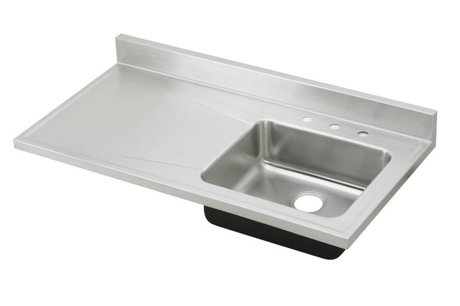 Elkay Ertone Clic Stainless Steel 48 34 X 25 7 1 2 Single Bowl Sink Top