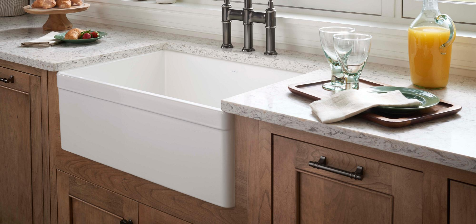 Fireclay Kitchen Sinks Elkay
