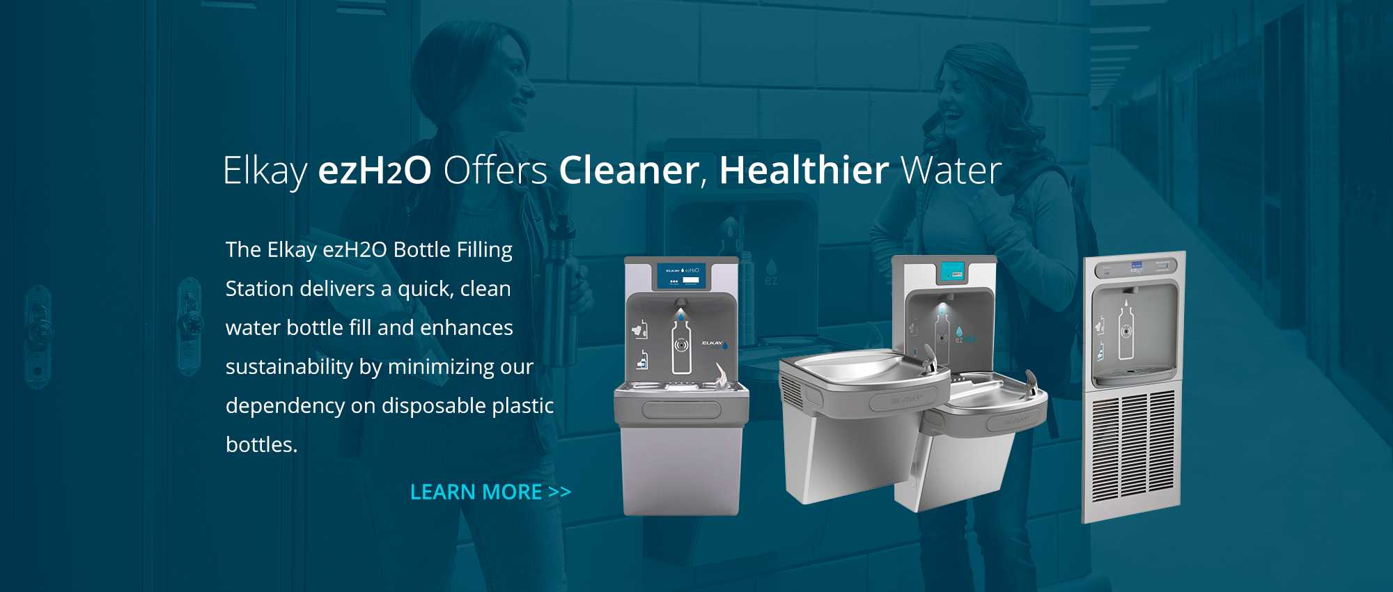 Elkay ezH2O Offers Cleaner Healthy Water